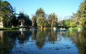 Parque Rodó em Montevidéu: pedalinho