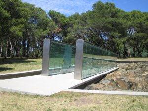Parque Carlos Vaz Ferreira em Montevidéu: Memorial de los Detenidos Desaparecidos