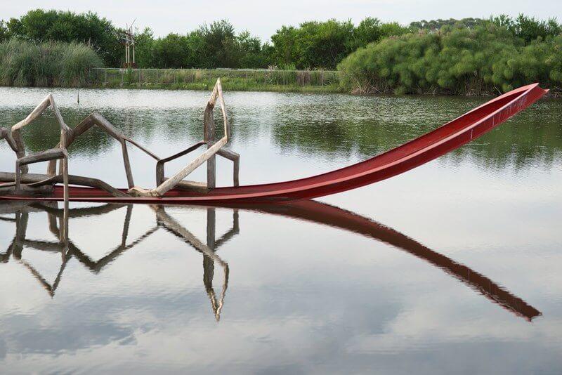 Parque das Esculturas em Punta del Este: lago