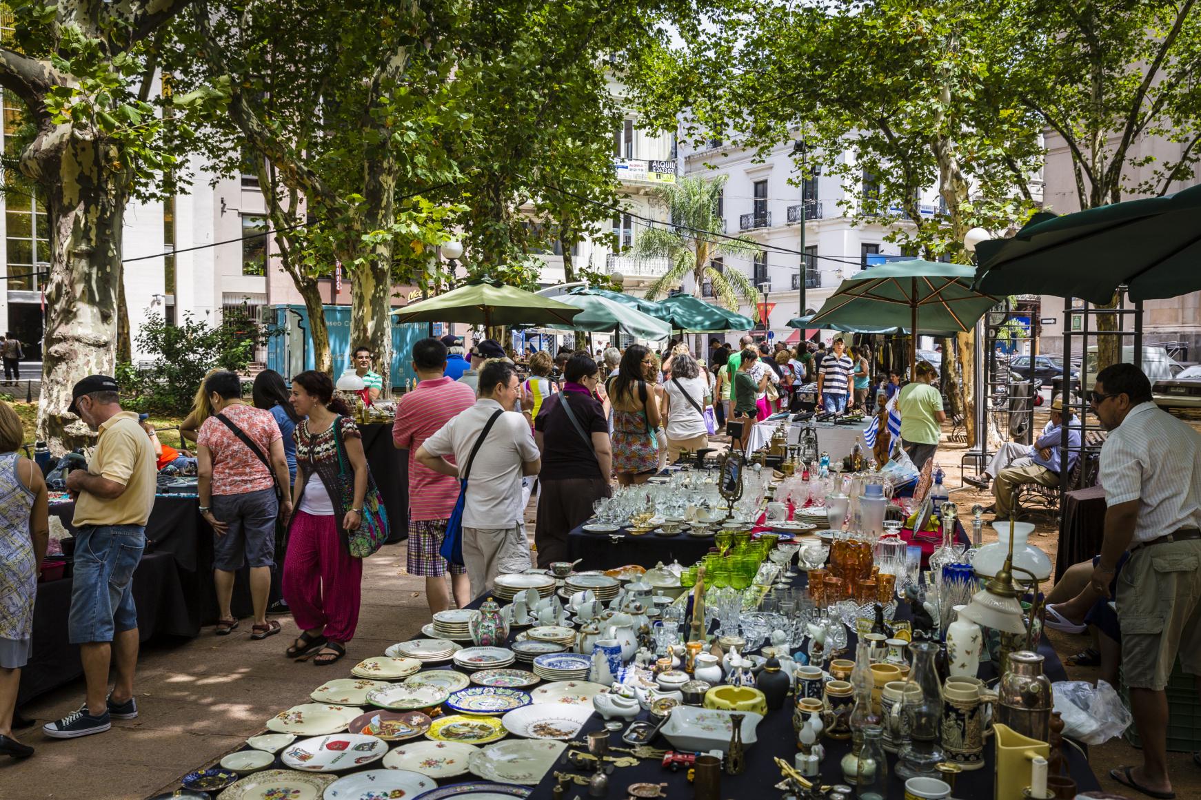 Feiras em Montevidéu: praça