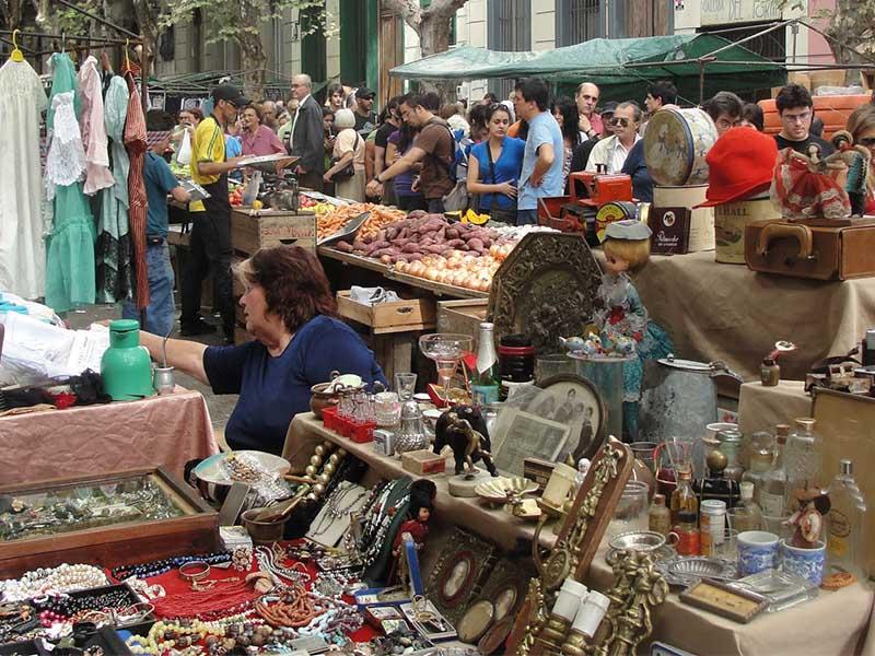Feiras em Montevidéu: compras