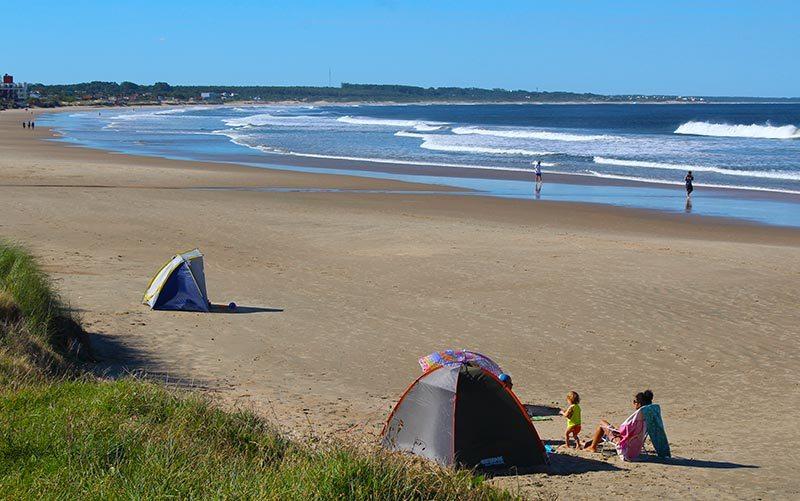 La Paloma no Uruguai: praia