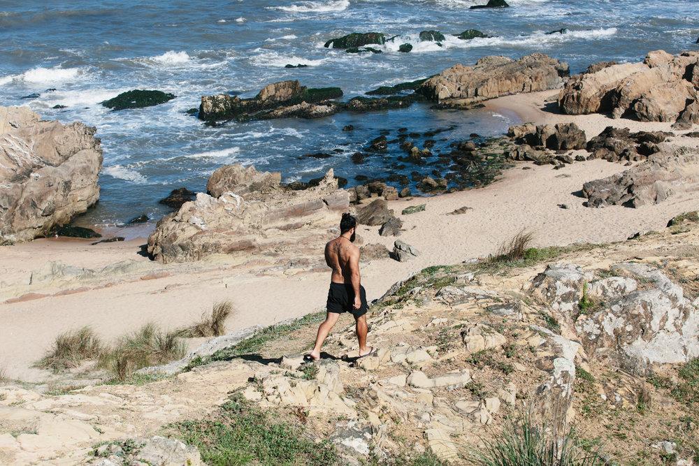 La Pedrera no Uruguai: rochas