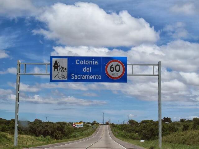 Viagem de carro de Montevidéu a Colonia del Sacramento