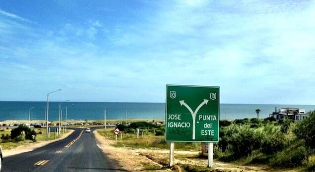 Viagem de carro de Punta del Este a José Ignacio