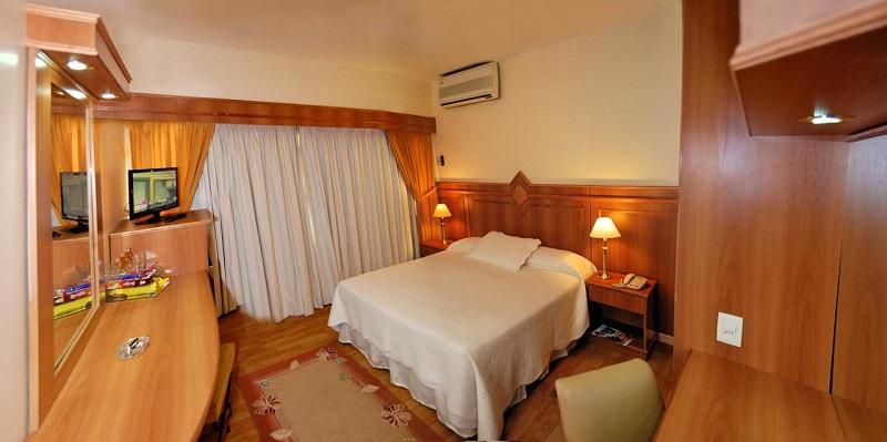 Quarto do Hotel London Palace em Montevidéu