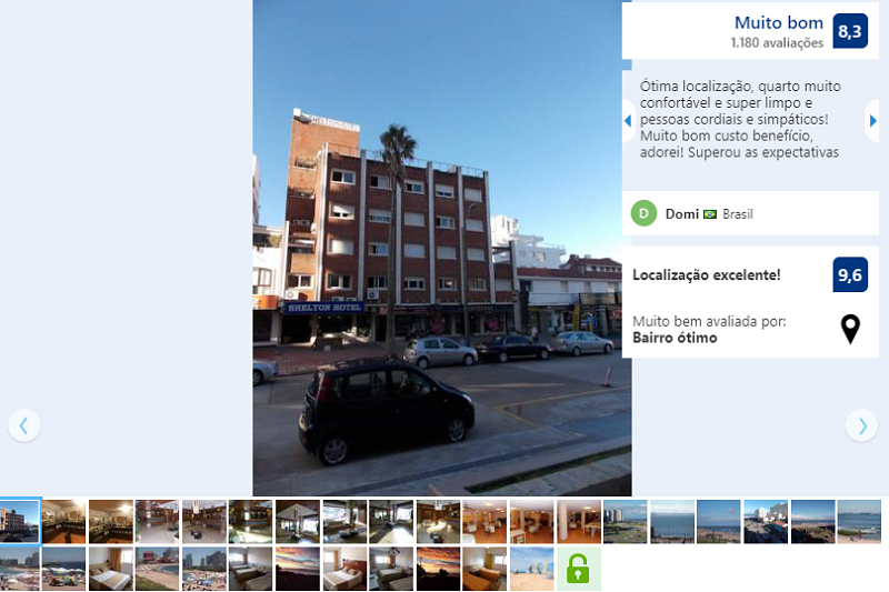 Fachada do Shelton Hotel em Punta del Este