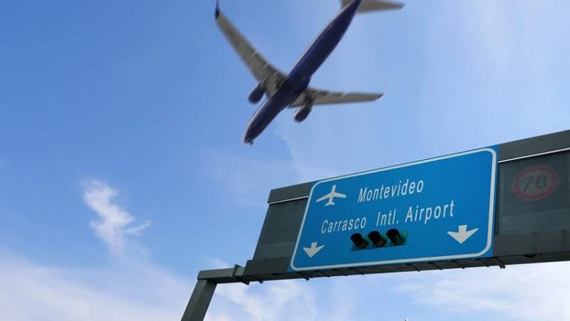 Placa do Aeroporto de Montevidéu