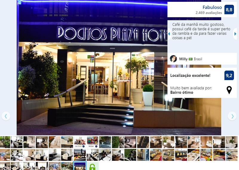 Quarto do Pocitos Plaza Hotel em Montevidéu