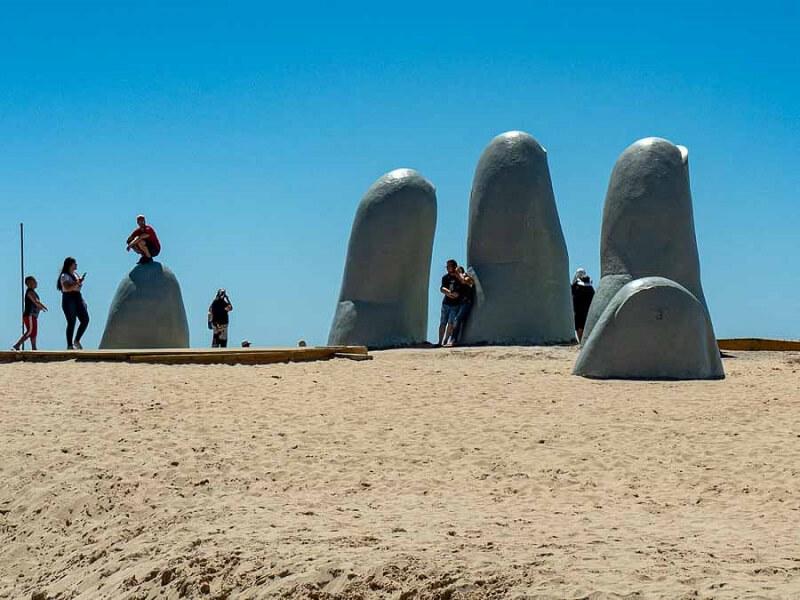 Pontos turísticos no Uruguai: Mano de Punta del Este