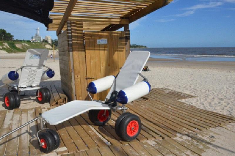 Acessibilidade nas praias do Uruguai